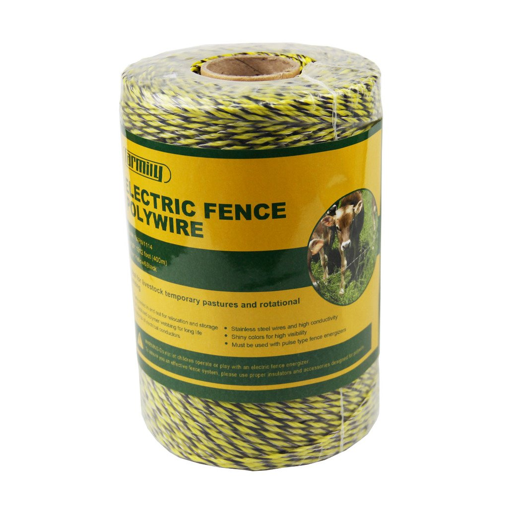 Zareba PW656Y6-Z Polywire 200-Meter 6-Conductor Portable Electric-Fence Rope