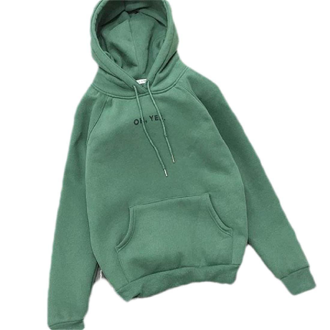 Zantt Womens Letter Print Fall /& Winter Fleece Pullover Hoodie Sweatshirts