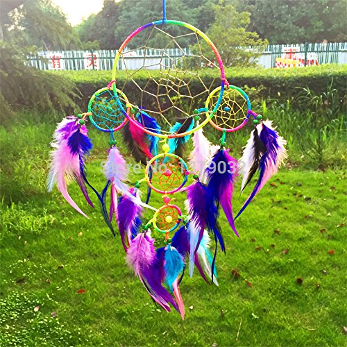 Artistic 2015 New Fashion Jewelry Hot Dreamcatcher Wind Chimes Indian Style Multicolor Feather Pendant Dream Catcher (Hippie Tattoo Designs)