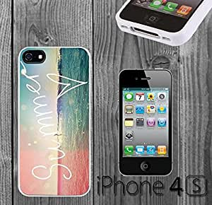Hipster VIntage Summer Custom made Case/Cover/skin FOR iPhone 4/4s - White - Rubber Case ( Ship From CA) by mcsharks