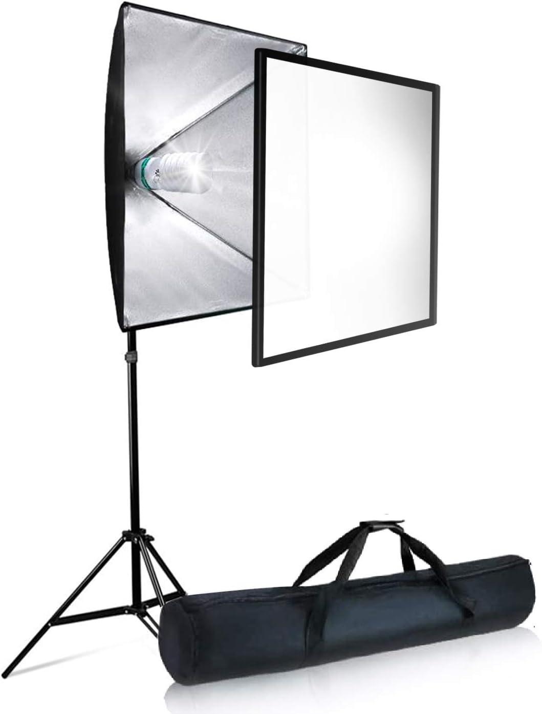LimoStudio 700W Photo Video Studio Soft Box Lighting Kit Photography Studio AGG2767 24 x 24 Inch Dimension Softbox Light Reflector with 85W CFL Bulb