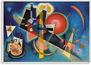 Stupell Industries in Blue Traditional Abstract Shape Painting, Designed by Wassily Kandinsky Art, 10 x 15, Wall Plaque