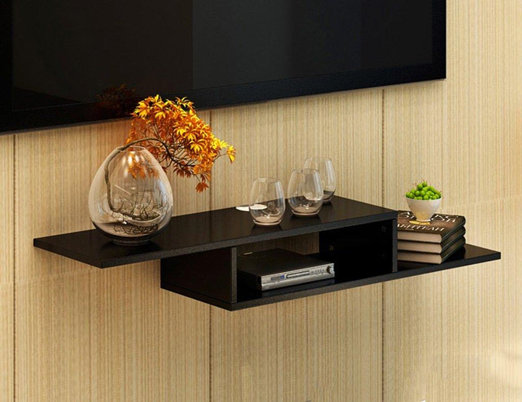 ウォールマウントテレビキャビネット壁の装飾パーティション壁セットトップボックスシェルフの色オプション ( 色 : ブラック ) B07B3JCH8T ブラック ブラック