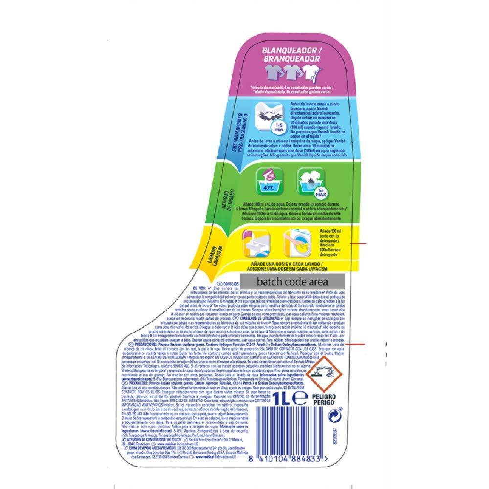 Vanish líquido blanqueador 1L: Amazon.es: Amazon Pantry