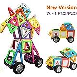 Innoo Tech Blocchi Costruzioni Magnetiche Puzzle di Legno per I Bambini Lasciate Che Il Vostro Bambino Imparare Colori e Forme Attraverso (76, Grandi)