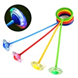 YiDing Children Flashing Jumping Ring Colorful Ankle Skip Jump Ropes Sports Swing Ball