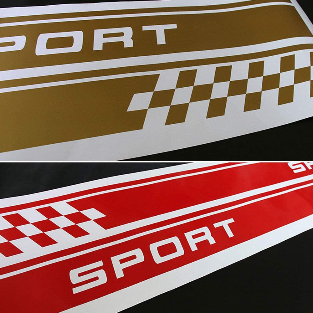 DSYCAR 1 par de calcoman/ías Laterales del Coche Sill Sport Vinilo Puerta Pegatinas Laterales para Mini Cooper One S Countryman R60 Paceman R61 F55 F56 R56 R50 R53 Blanco