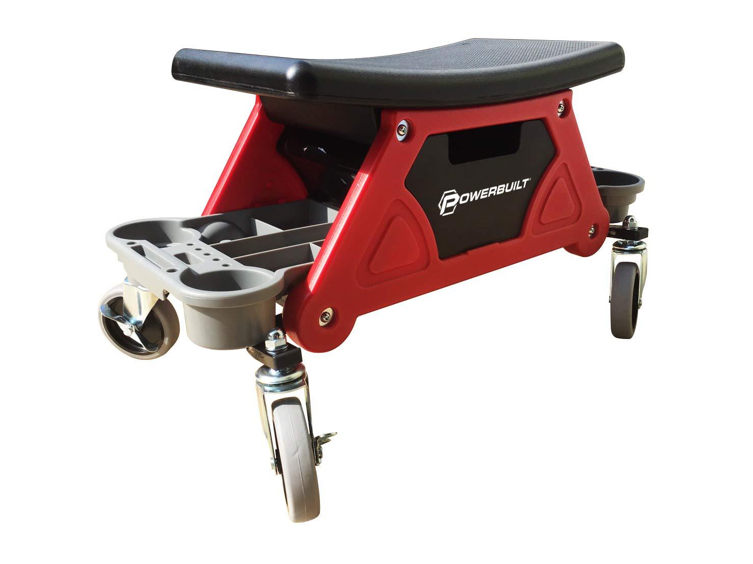 Powerbuilt Heavy Duty Rolling Mechanics Seat Brake Stool 300lb Capacity - 240036 (Stool) by Powerbuilt (Image #7)
