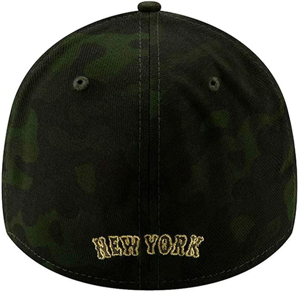 New Era 2019 MLB New York Mets Hat Cap Armed Forces Day 39Thirty 3930 Green//Gold