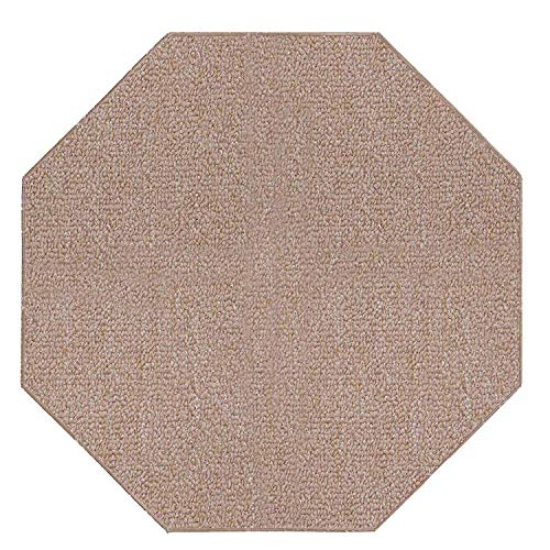 Ambiant Saturn Collection Pet Friendly Indoor Outdoor Area Rugs Beige - 6' Octagon ()