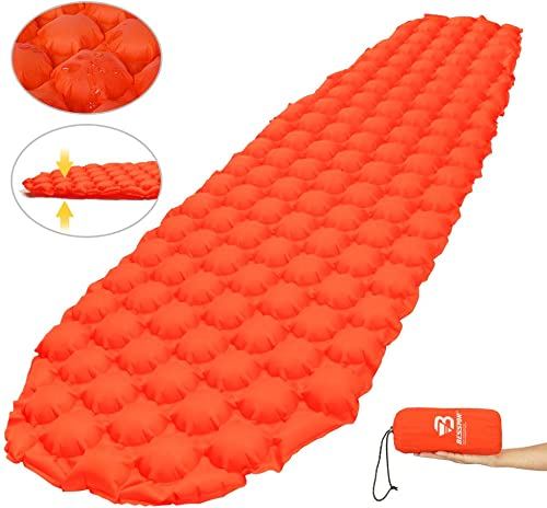 Bessport Sleeping Pad Ultralight Inflatable Sleeping Mat, Best Self Serving Pad for Camping, Backpacking, Hiking Carry Bag, Repair Kit Compact Lightweight Air Mattress