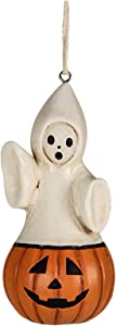 Bethany Lowe Ghost in Pumpkin Jack Halloween Party Retro Vintage Decor Ornament
