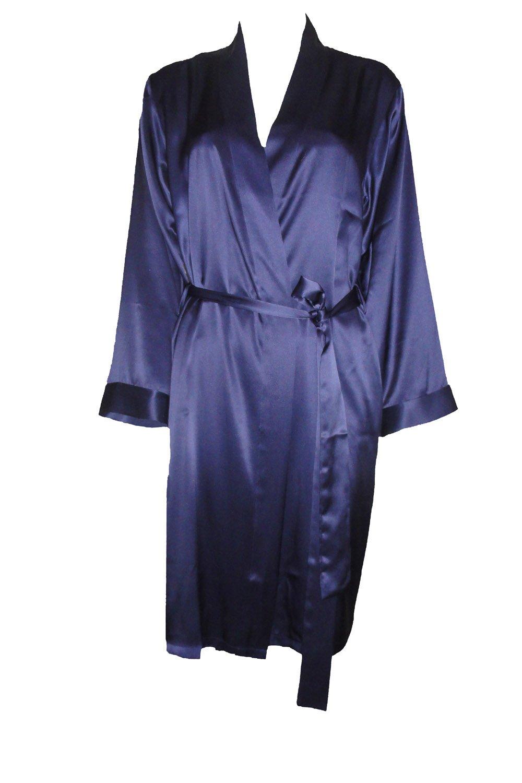 OSCAR ROSSA Women's Luxury Silk Sleepwear 100% Silk Robe Kimono by