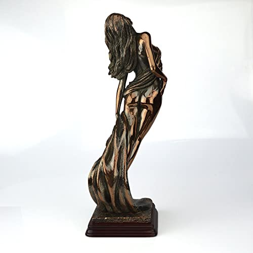 Rockin Gear Statue Bronze Sculpture Figurine Lady Goddess Silhoutte – Cold Cast Bronze