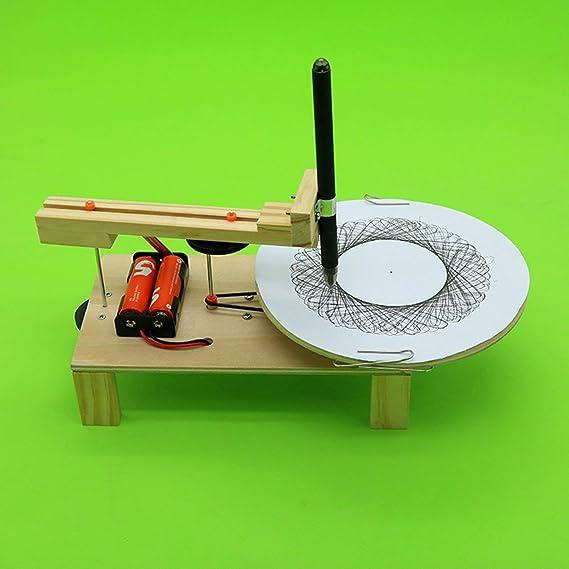 fEStprintse DIY Plotter Eléctrico Dibujo Robot Kit Física Experimento Científico Inventos Creativos Ensamblar Modelo de Juguete para Niños: Amazon.es: Deportes y aire libre