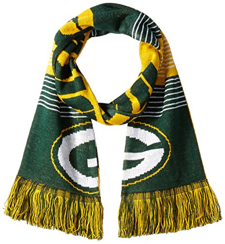 (Green Bay Packers Reversible Split Logo Scarf)