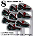 "T11 Power Back Tall Iron Set 4-SW Custom Made Golf Clubs Right Hand Regular R Flex Steel Shafts JUMBO Tacki-Mac Grips +2"" Longer Men's Standard Irons"