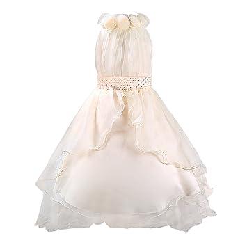 Katara niña de las flores, vestido de noche con velo para niños de 3-
