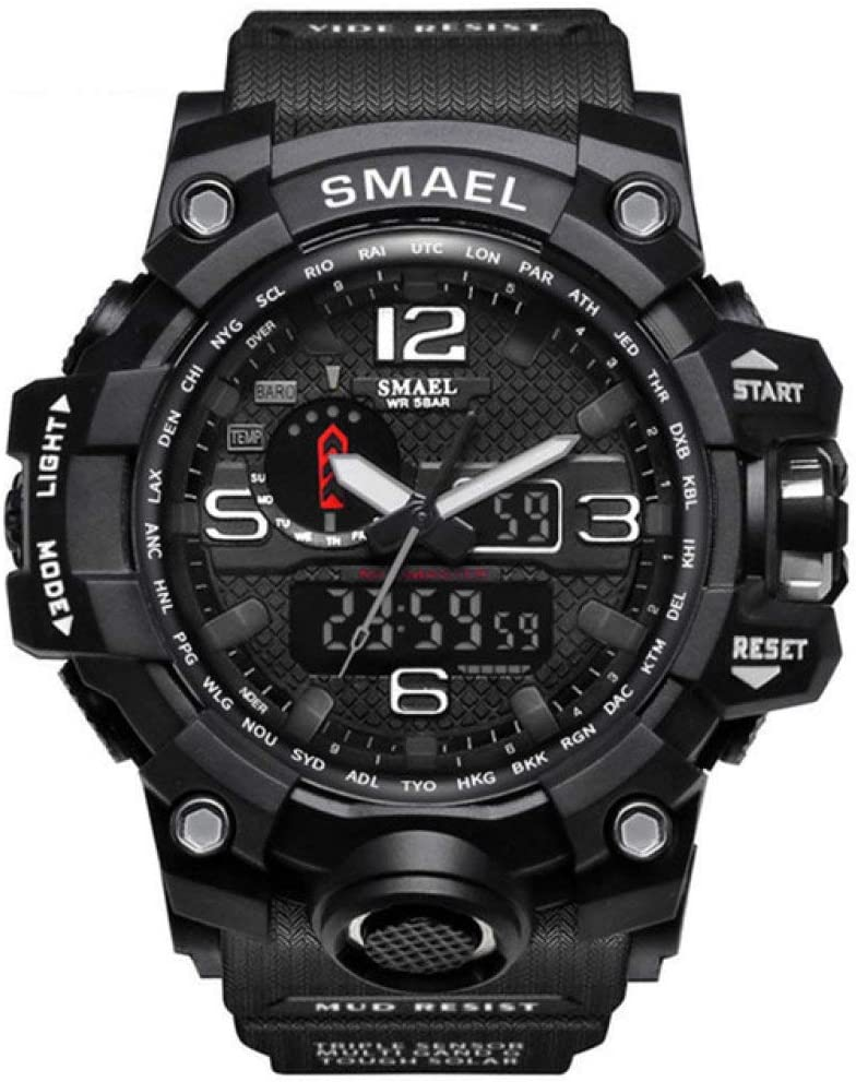 SJUTALR Relojes Deportivos,Reloj Deportivo Inteligente para Hombres Reloj Digital Profesional Impermeable para Hombres Reloj Inteligente