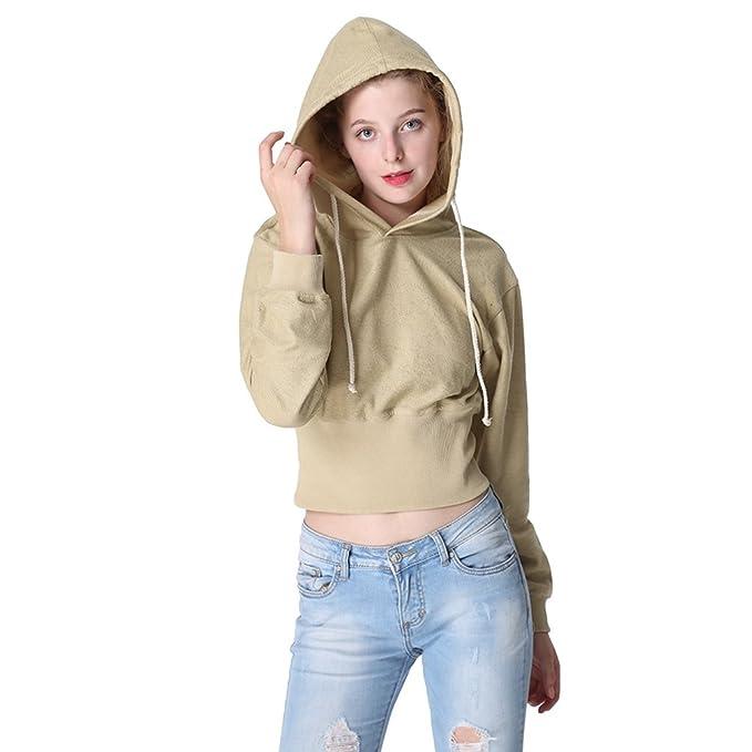 WanYang Mujeres Otoño Invierno Moda Sudaderas Con Capucha Manga Larga Blusa Pullover Sweatshirt