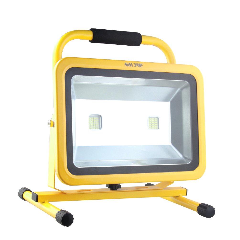 「Sunpie」LED投光器 Hi/Loモード 144w/72w 超長点灯時間 正規SHARPチップ投光器 高輝度 充電式 バッテリー内蔵 防水 作業灯 地震 防災対策 2年保証 B078JML6TF 13999   144w