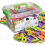 Magnetic Foam Letters and Numbers Premium Quality ABC, 123 Foam Alphabet Magnets   Educational Toy for Preschool Learning, Spelling, Counting in Canister