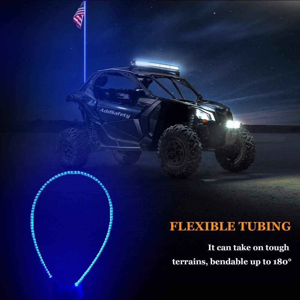 Road Vehicle ATV UTV RZR Jeep Trucks Dunes AddSafety 4FT Red LED Whips Light UTV Whips LED Antenna Light For Off