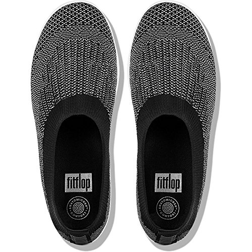 Multicolore Ballerine Charcoal Chiusa Uberknit on Slip Fitflop Black Donna Punta wt0gq