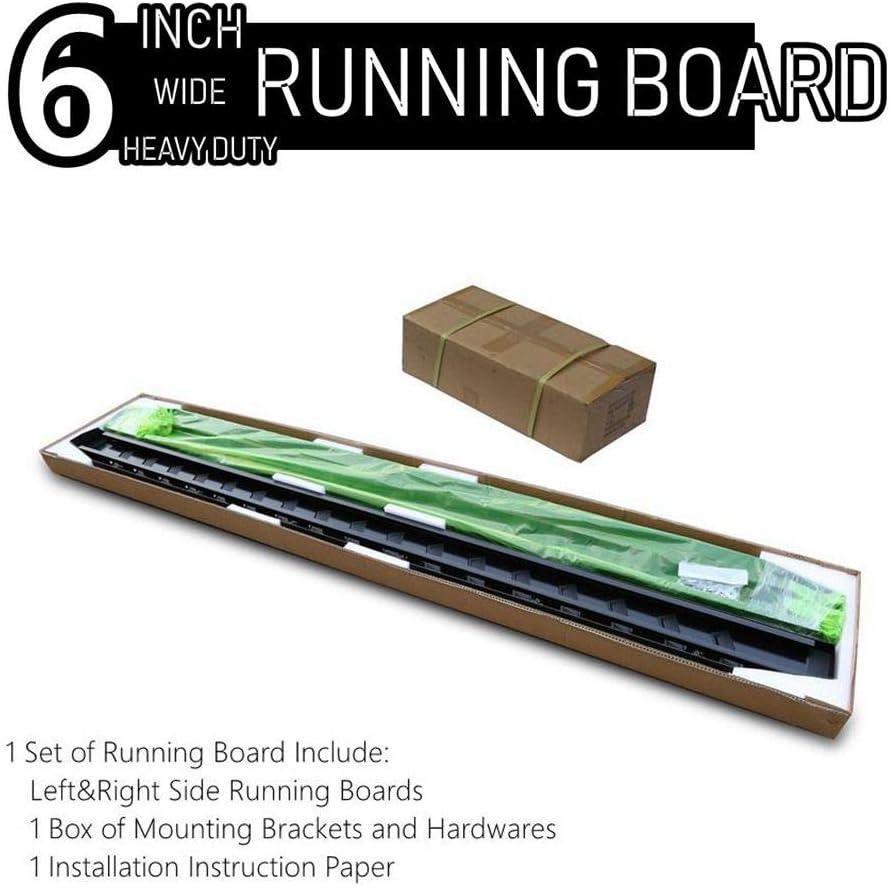 Excl. Silverado//Sierra LD ONINE 6 Inch Black Running Boards Custom Fit 2019-2020 Chevy Silverado//Gmc Sierra 1500 2020 2500//3500 Crew Cab Side Step Nerf bar