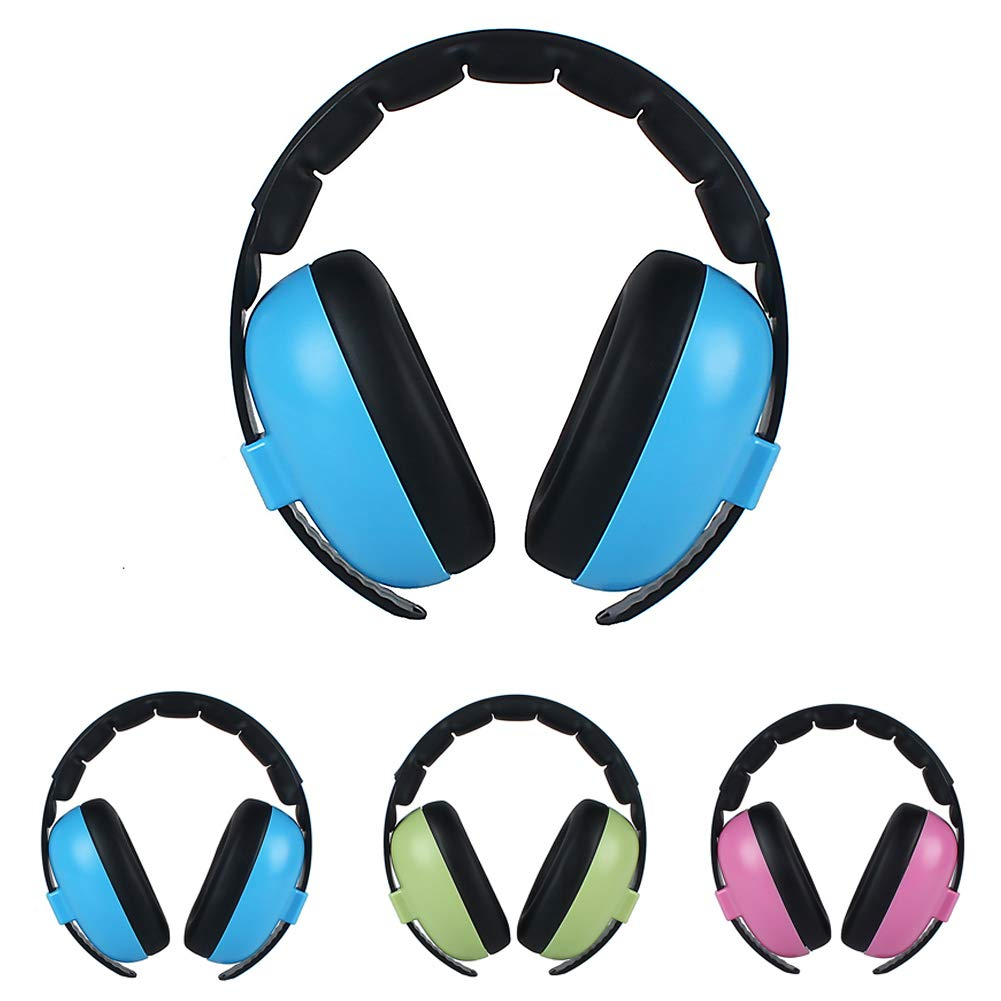 Noise Cancelling Headphones for Kids Babies Ear Protection Earmuffs Noise Reduction for 0-5 Years Babies Pink Adjustable Headband Hearing Protection Headphones Infant Toddlers Kids