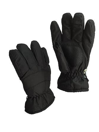 Rugged Wear Waterproof Menu0027s Ski Gloves (M, Black)