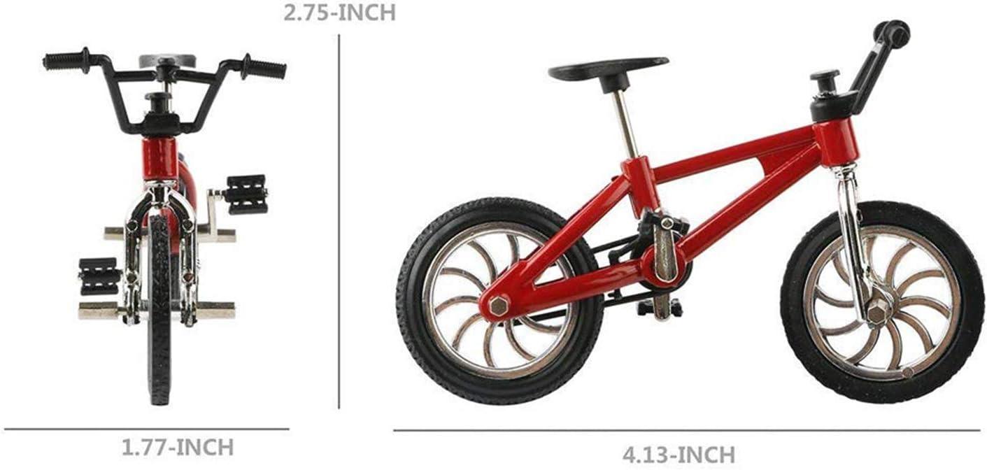 M/ädchen kreatives Geschenk f/ür Weihnachten und Geburtstag Freestyle-Fahrrad einfache Montage Kinder f/ür Jungen XHXseller Vintage-Kinderfahrrad Miniatur-Finger-Mountainbike Modell-Spielzeug