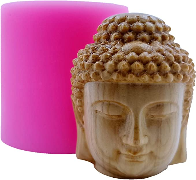 Buddha Candle Mold Soap 3D Silicone Mould Candle Wax Aroma Gypsum Resin Crafts