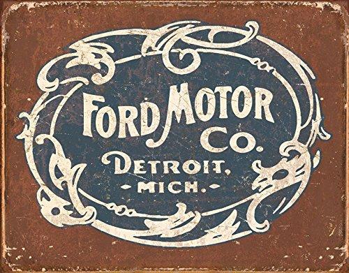 Logo Tin (Tin Signs TSN1707-BRK Ford Historic Logo)