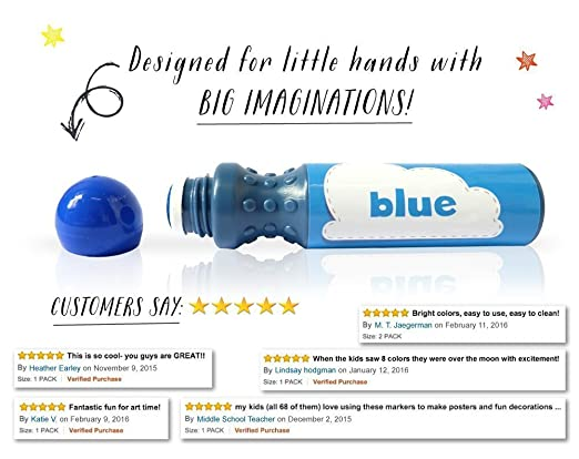Amazon.com: 8 pack Washable Dab and Dot Dauber Markers, Paint ...