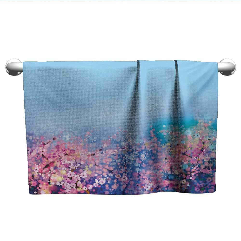 Amazon Com Flower Personalized Towels Retro Cherry Blossom Petal