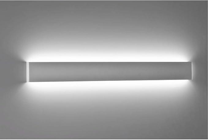 Isyluce grande applique led cm w k rettangolare moderno