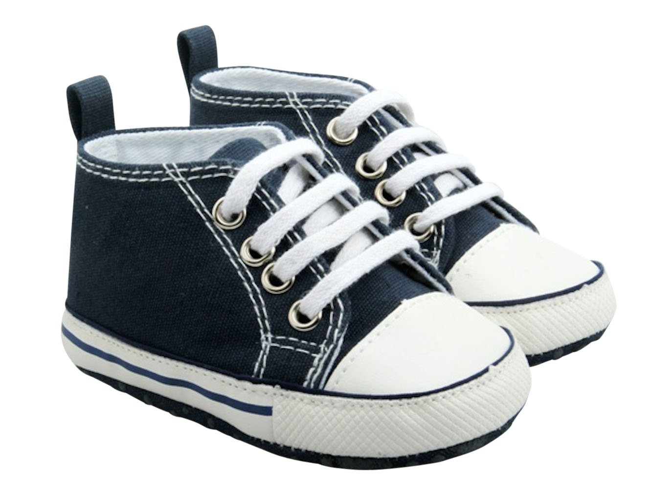 Quality Baby Boy Girl Infant Toddler Soft Sole Sneaker Crib Shoe Dark Blue (6. Unique Baby