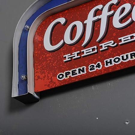 Bar café signo de luz, Creative pared retro colgante LED ...