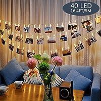 Tomshine Clip Cadena de Luces LED, 40LEDs 5m
