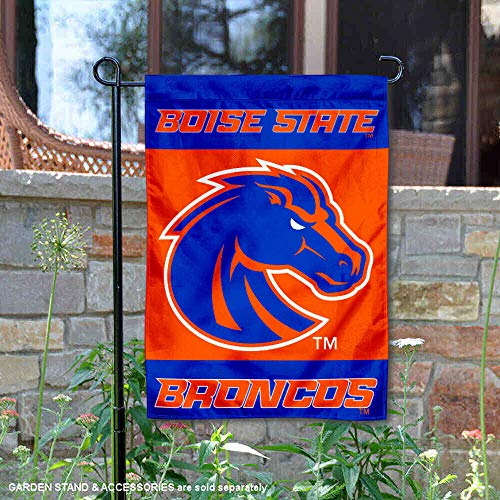 College Flags and Banners Co. Boise State Broncos New Logo Garden Flag Boise State Broncos Flag