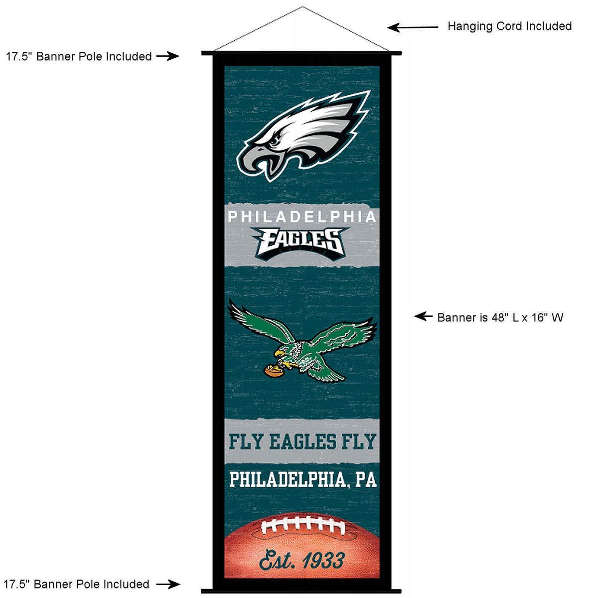 Philadelphia Eagles Banner and Scroll Sign