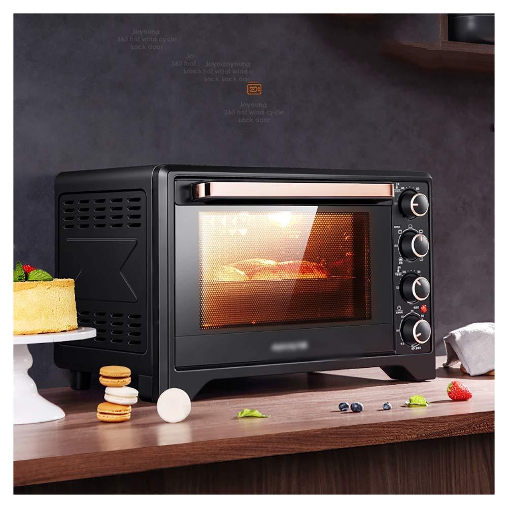 KDJHP オーブン付きミニオーブン(グリル付き)、32リットル高速加熱オーブントースター、調理機能、グリルラック&ベーキングトレイ付き -オーブントースター   B07PQWK8QL