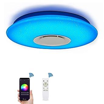 RGB LED Decken Leuchte Bluetooth Lautsprecher Sternen Himmel Fernbedienung Lampe
