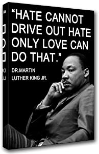 Martin Luther King JR Poster and Prints on Canvas Education Pictures Black History Painting Inspirational Wall Art Quote Artwork Future Diary Home Decor for Living Room Framed Ready to Hang(16''x24'')