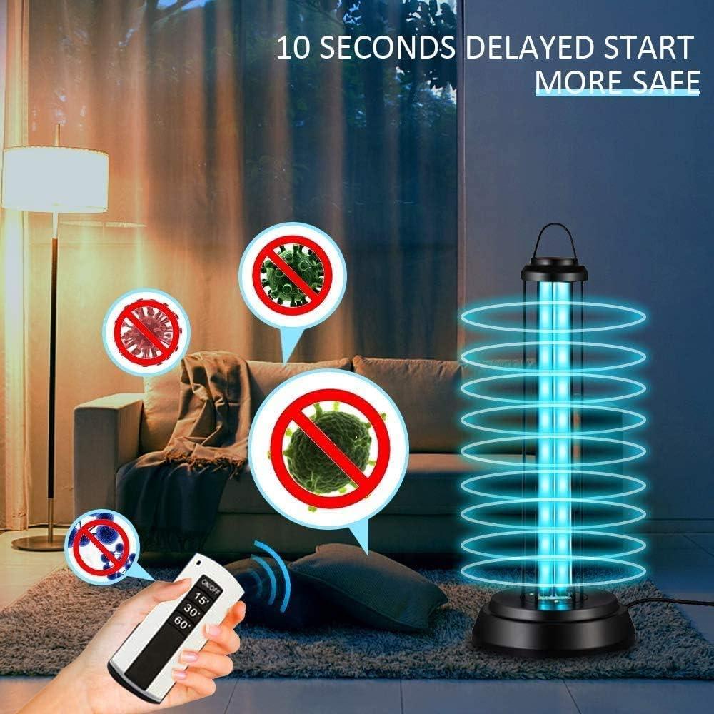 synchronisation du troisi/ème engrenage pour la Maison OnReal D/ésinfectant /à la lumi/ère UV lh/ôpital lumi/ère de d/ésinfection UV-C etc Lampe Germicide UV Portable avec t/él/écommande de lozone