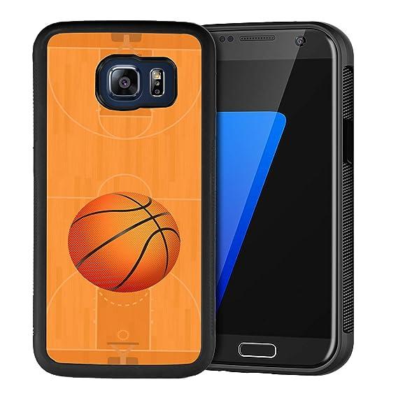 super popular 8d158 f27f2 Amazon.com: Samsung Galaxy S6 Phone Case, Black Anti-Scratch Lithe ...