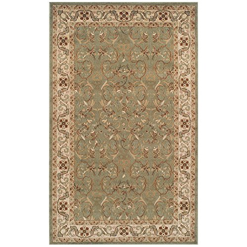 Blue Nile Mills Heritage 4 x 6 Green Area Rug, Contemporary Living Room Bedroom Area Rug, Anti-Static and Water-Repellent for Residential or Commercial Use, 4-feet by 6-feet