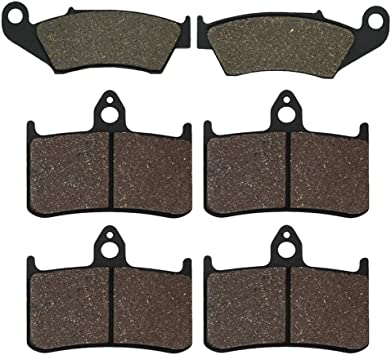 Cyleto Front and Rear Brake Pads for Honda XR400R XR 400 R XR400 R XR 400R 1996-2005 XR600R XR 600R XR 600 R XR600 R 1993-2000