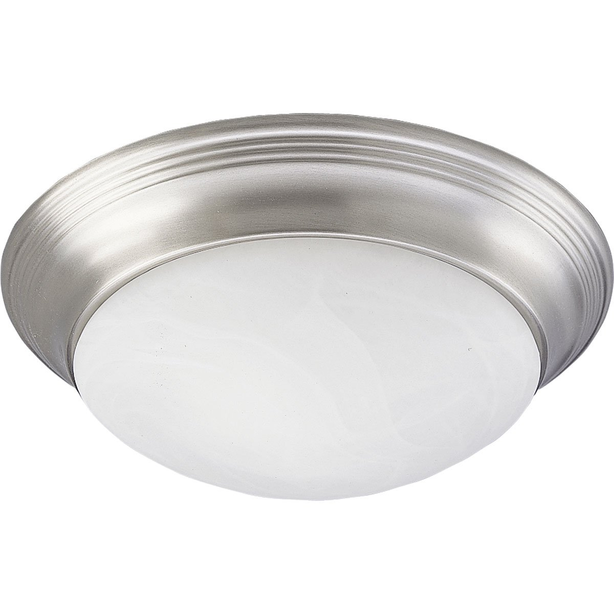 Progress Lighting P3688-09 Alabaster Glass One-Light Close-To-Ceiling, Brushed Nickel, 11-1/2'' x 3-3/4''